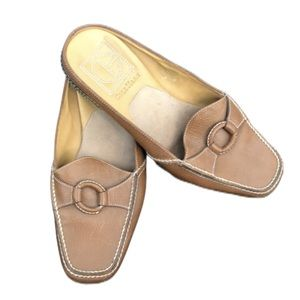 Cole Haan Leather Mule Loafers